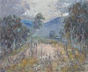 Sale 8980A - Lot 5019 - Reginald Rowe (1916 - 2010) - Bundanoon Landscape 44.5 x 54.5 cm (frame: 61 x 71 x 4 cm)