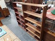 Sale 8988 - Lot 1087 - Timber Open Shelves (2) (H:130 W:75 D:18cm)