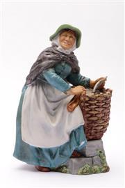 Sale 9078 - Lot 191 - A Royal Doulton Old Meg figural group (H21.5cm, HN2494)