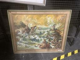 Sale 9111 - Lot 2043 - Helen Goldsmith Sawtell Rocks, NSW oil on canvas board 66 x 81cm, signed lower left