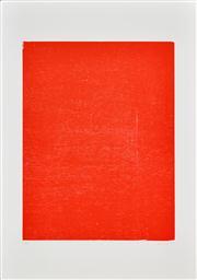 Sale 8347A - Lot 3 - John Nixon (1949 - ) - Red, 1988 (Self Portrait Series) 71 x 54cm (99 x 70cm, sheet size)
