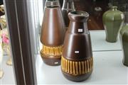Sale 8346 - Lot 43 - Vintage Israeli Studio Pottery Vases Signed Beit Hayotser