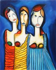 Sale 8683 - Lot 503 - Allan Goddard (1950 - 2018) - Les Trois Soeurs, 2004 76.5 x 61cm