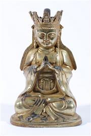 Sale 9010D - Lot 791 - Bronze figure of Guanyin H:19cm