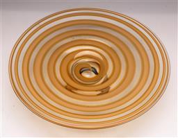 Sale 9131 - Lot 47 - Art glass footed swirl dish (Dia:36cm)