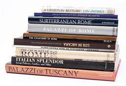 Sale 9170H - Lot 26 - A collection of books of Italy, including The Catacombs of Rome