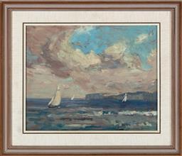 Sale 9190H - Lot 101 - Will Ashton, sailing scene, oil on panel, SLR, 26.5cm x 33.5cm
