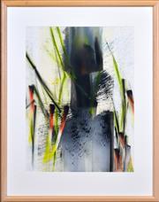 Sale 8408 - Lot 573 - Thomas Gleghorn (1925 - ) - Water Path and Burial Pole, Kakadu, 1987 72.5 x 54cm