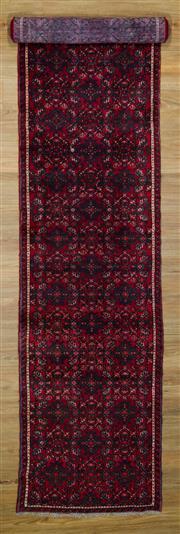 Sale 8566C - Lot 22 - Persian Husinabad Runner 370cm x 80cm