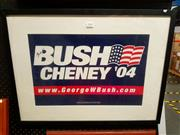 Sale 8671 - Lot 2049 - Framed Bush & Cheney 04 President Election Sign