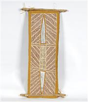 Sale 8718 - Lot 511 - Peter Datjin Burrawanga (1953 - ) - Ganiny natural pigments on bark