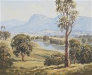 Sale 8751 - Lot 2027 - Robert Parsons - Pastoral Scene with River 44 x 55cm