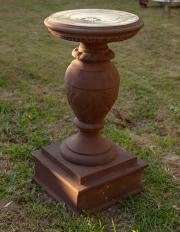Sale 8795A - Lot 26 - A Pietro stoneware sundial, H 102cm