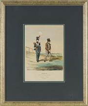 Sale 8841 - Lot 2026 - Artist Unknown (German School) C19th - Military Uniforms, the Kingdom of Wurttemberg, circa 1870 31 x 22cm