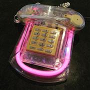 Sale 8878T - Lot 4 - Retro 1980s Neon Light Roxanne Telephone by Cicena, Dimensions - 24cm x 17cm x 8cm