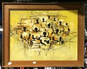 Sale 8941 - Lot 2090 - Artist Unknown (Filipino School) Market Vendors, acrylic on canvas, 58 x 73 cm (frame) signed lower right -