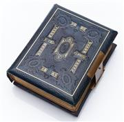 Sale 9080W - Lot 20 - An embossed and gilt leather photograph album of 24 pages complete with photographs. 16 x 13cm