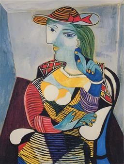 Sale 9108A - Lot 5036 - Pablo Picasso (1881 - 1973) - Portrait of Marie Therese Walter 43 x 30 cm (sheet)