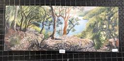 Sale 9147 - Lot 2002 - Coco Elder, America Bay, diptych, oil on board (20x50cm)
