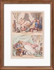 Sale 8595 - Lot 2045 - Thomas Rowlandson, - At home and Abroad and Abroad and at home, aquatints, 30 x 21cm
