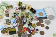 Sale 8477 - Lot 24 - Badge and Money Collection inc Olympic Badges and English Note