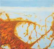 Sale 8484 - Lot 527 - John Olsen (1928 - ) - Lake Eyre the Desert Sea 86 x 96cm