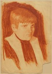 Sale 8781A - Lot 5072 - Norman Lindsay (1979 - 1969) - Portrait of a Young Boy 38 x 26cm