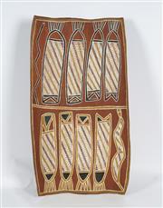 Sale 8718 - Lot 510 - England Banggala (1925 - ) - Gapalma (File Snake), 1994 natural pigments on bark