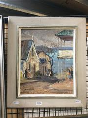 Sale 8752 - Lot 2016 - Claudia Forbes-Woodgate (1925 - 2008) - Neutral Bay oil on canvas on board, 29.5 x 24.5cm, signed and dated lower left -