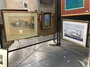 Sale 8752 - Lot 2020 - 2 Works: William Blundell - Seaside Study, oil on panel, 34 x 24.5cm (frame size), initialled lower right plus a Maritime Decorati...