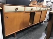 Sale 8809 - Lot 1063 - Vintage Sideboard with Pillow Front Drawers