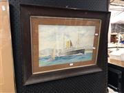 Sale 8819 - Lot 2185 - Artist Unknown Ortona, Watercolour, 27.5x42.5cm