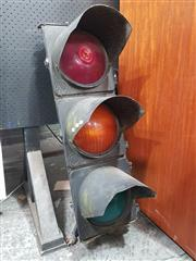 Sale 8839 - Lot 1088 - Traffic Lights Converted to Lamp