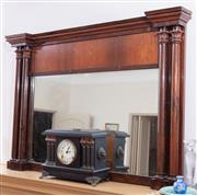 Sale 8908H - Lot 87 - A mahogany over mantle mirror, Height 92cm x Width 126cm