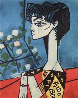 Sale 9108A - Lot 5060 - Pablo Picasso (1881 - 1973) - Portrait of Jacqueline Roque 43 x 30 cm (sheet)