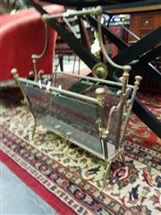 Sale 8462 - Lot 1020 - Brass & Glass Magazine Rack
