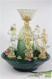 Sale 8516 - Lot 75 - Murano Glass Figural Fountain (Some Faults)