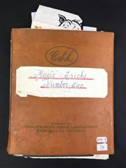 Sale 8539M - Lot 76 - Magic Tricks, by Keith Abson. No. 2. Scrapbook with numerous handwritten notes and anecdotes