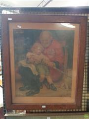Sale 8592 - Lot 2101 - Print Past & Future in Oak Frame