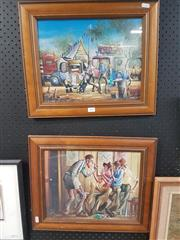 Sale 8762 - Lot 2091 - Pair of Max Mannix Framed Prints