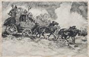 Sale 8821A - Lot 5089 - Reginald Russom (1887 - 1952) - Cobb & Co, 1937 20 x 32cm