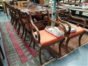 Sale 8834 - Lot 1056 - Regency Mahogany Dining Setting incl. Extension Table & Ten Chairs incl. Two Carvers (11)
