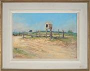 Sale 8932 - Lot 2083 - John Forsyth Baird (19*02 - 1988) At Farm Gate, Mudgee, 1950s oil on board, 26x38cm, signed -