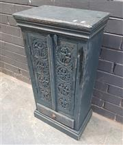 Sale 9026 - Lot 1063 - Small Cabinet with Carved Panel Doors (h:83 x w:43cm)
