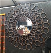 Sale 9071 - Lot 1094 - Round Metal Framed Mirror (d:97cm)