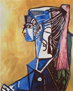 Sale 9108A - Lot 5066 - Pablo Picasso (1881 - 1973) - Portrait of Sylvette David 43 x 30 cm (sheet)