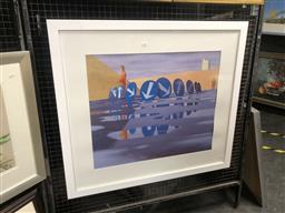 Sale 9147 - Lot 2026 - Jeffrey Smart decorative print, reflections (88x99cm)