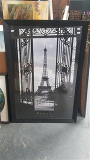 Sale 8433 - Lot 2022 - Framed Poster of Paris