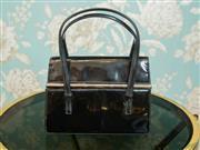 Sale 8448A - Lot 46 - Vintage 1960s Italian designer black patent leather Rodo handbag Condition: good some minor wear consistent with age, Rodo logo l...