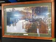 Sale 8503 - Lot 2047 - After Sydney Long - By Tranquil Waters framed